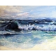 """""""Surf 's Up"""" Oil Painting"""