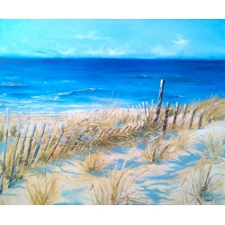 """Sandy Neck"" oil painting of Cape Cod beach"