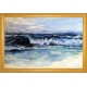 """""""Surf 's Up"""" Oil Painting on canvas with gold frame"""