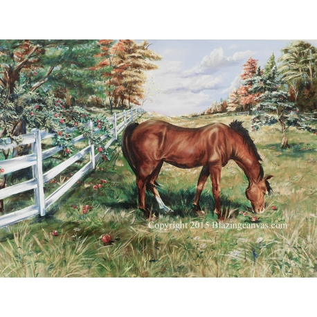 """Greener Pastures"" Oil on Canvas"