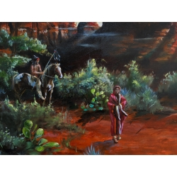 Red Rock Sedona Vista Painting